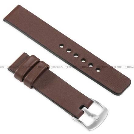 Pasek skórzany do zegarka lub smartwatcha - moVear WQU0S010000SLBM24B1 - 24 mm