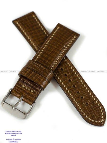 Pasek skórzany ręcznie robiony A. Kucharski Leather - Conceria Puccini Palmellato - chestnut/camel 26 mm