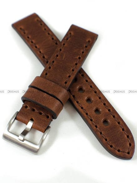 Pasek skórzany ręcznie robiony do zegarka - Tekla PT-HM3-20.2.2 - 20 mm