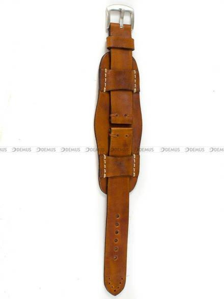 Pasek skórzany z podkładką do zegarka - Tekla PT63.20.2.2