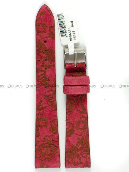 Pasek skórzany z zamszem do zegarka - Minet MPSAR18 - 18 mm
