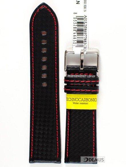 Pasek wodoodporny karbonowy do zegarka - Morellato A01U3586977883 24mm