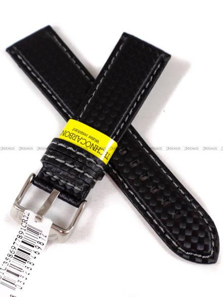Pasek wodoodporny karbonowy do zegarka - Morellato A01U3586977891 22 mm