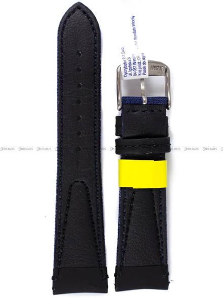 Pasek wodoodporny skórzano-nylonowy do zegarka - Morellato A01X4747110061 - 22 mm