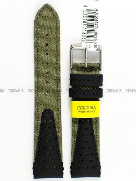 Pasek wodoodporny skórzano-nylonowy do zegarka - Morellato A01X4747110072 - 20 mm