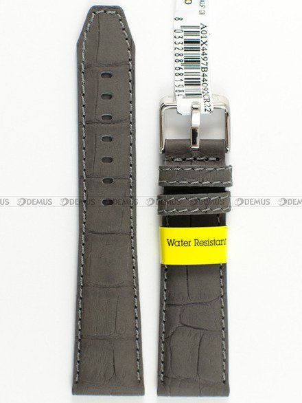 Pasek wodoodporny skórzany do zegarka - Morellato A01X4497B44092 - 22 mm