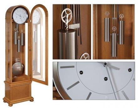 Zegar mechaniczny stojący Lambert-Silver-D