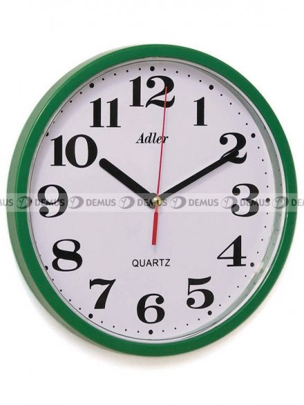Zegar ścienny Adler 30019-GREEN