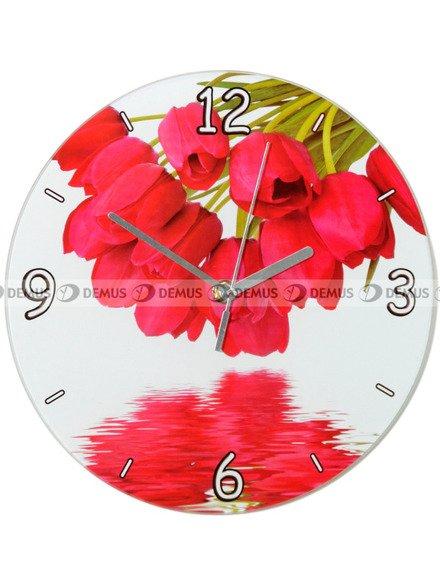 Zegar ścienny Demus S144065-Tulipany