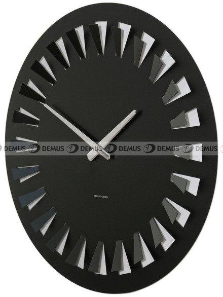 Zegar ścienny ExitoDesign Cut Round Black HS-5002BL