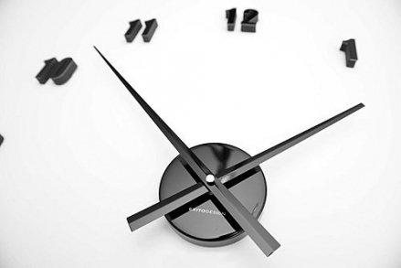 Zegar ścienny ExitoDesign Extender Mini Black HS-138BK