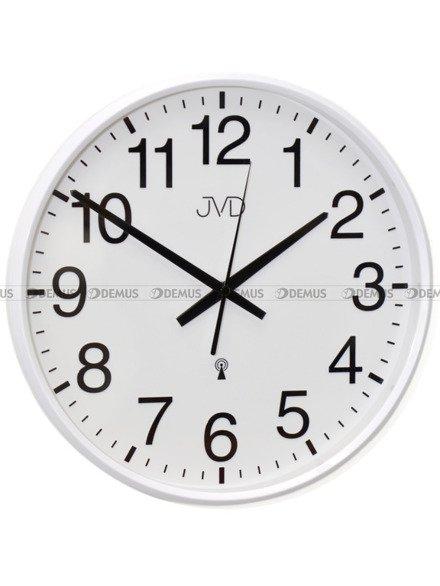 Zegar ścienny JVD RH684.4 biały z DCF