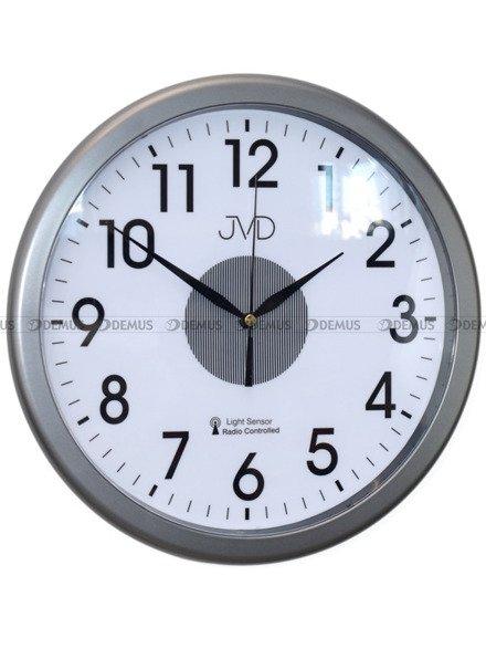 Zegar ścienny JVD RH692.4 grafitowy z podświetleniem