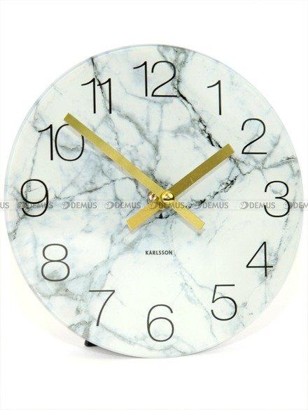 Zegar ścienny Karlsson Glass Clock White Marble KA5616WH