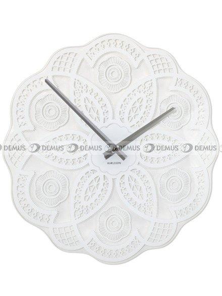 Zegar ścienny Karlsson Lace Cut Out White KA5442WH