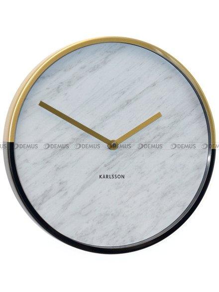 Zegar ścienny Karlsson Marble Delight Gold White KA5606WH