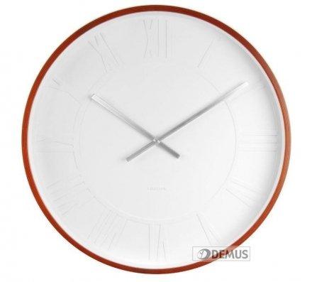 Zegar ścienny Karlsson Mr. White Roman XL KA5434