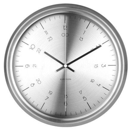 Zegar ścienny Karlsson Nautical Stainless Steel KA5597SI