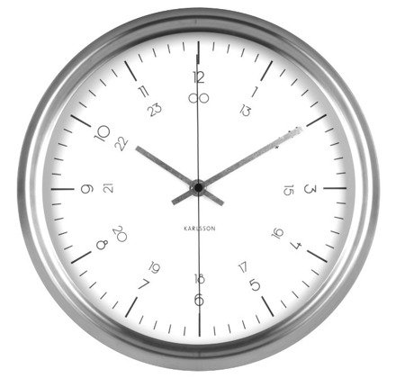 Zegar ścienny Karlsson Nautical Stainless Steel White KA5597WH