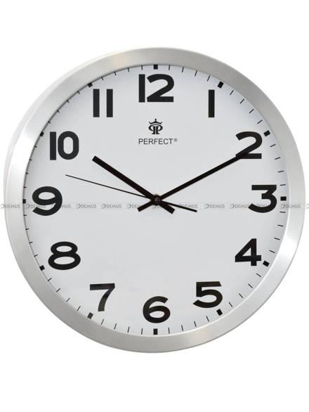 Zegar ścienny Perfect FX-3108K Srebrny - 35 cm