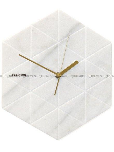 Zegar ścienny marmurowy Karlsson Marble Hexagon White KA5591WH