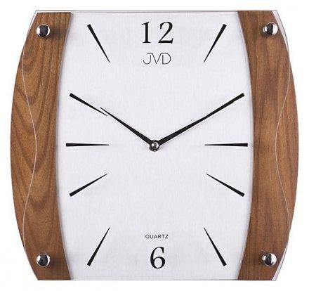 Zegar ścienny szklano-drewniany N11027.11