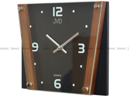 Zegar ścienny szklano-drewniany nowoczesny N11070.11