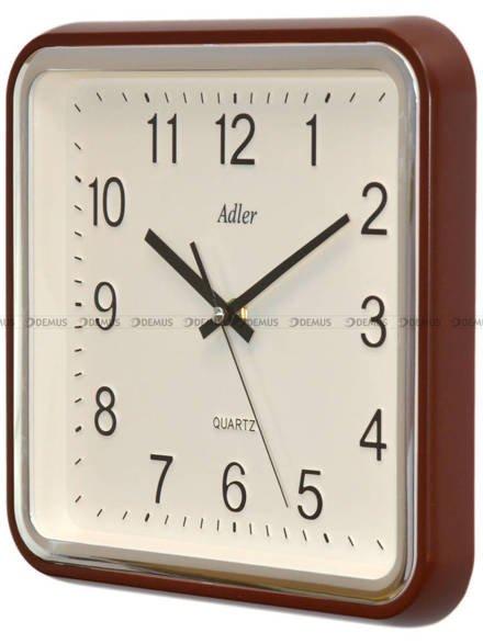 Zegar ścienny z płynącą wskazówką Adler PW159-1700-BR - 28x28 cm
