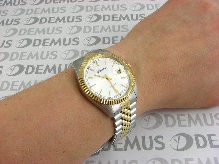 Zegarek Adriatica A1090.2113Q męski bikolor na stalowej bransolecie
