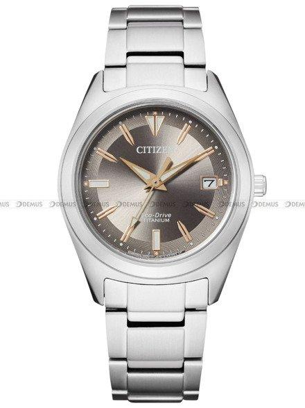 Zegarek Damski Citizen Eco-Drive Titanium FE6150-85H