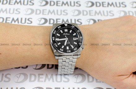 Zegarek Męski Balticus Deep Water Czarny - W zestawie dodatkowe paski