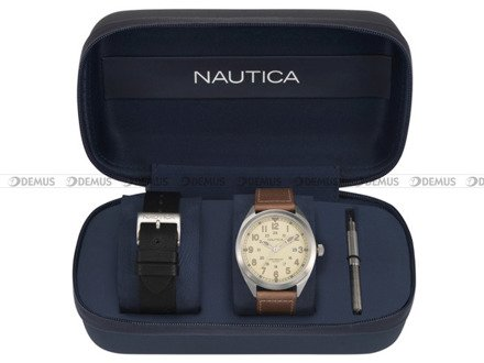 Zegarek Męski Battery Park NAPBTP009 - Dodatkowy pasek w zestawie