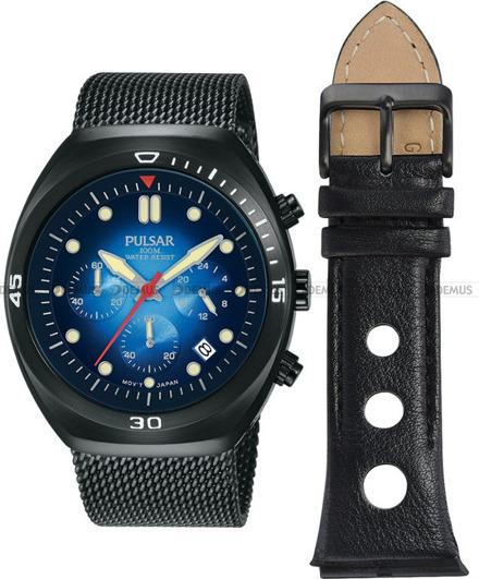 Zegarek Męski Pulsar PT3951X2 - Dodatkowy pasek w zestawie
