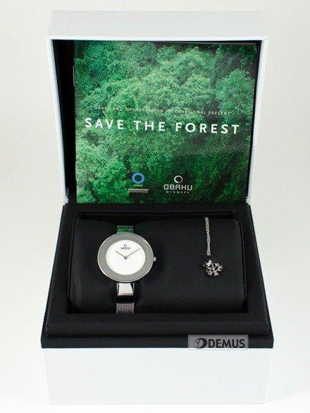 """Zegarek Obaku """"Save the Forest"""" V167LXCIMC-SF z wisiorkiem"""