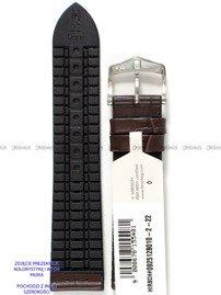 Pasek skórzano-kauczukowy do zegarka - Hirsch George 0925128010-2-24 - 24 mm