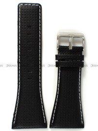 Pasek skórzany do zegarka Bisset BSCC63 - ABP/C63-Black-White - 34 mm