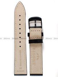 Pasek skórzany do zegarka Bisset BSCE75 - ABP/E75-Black - 20 mm