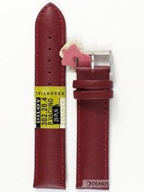 Pasek skórzany do zegarka - Diloy 302.20.4 20mm