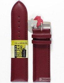 Pasek skórzany do zegarka - Diloy 302.24.4 - 24mm