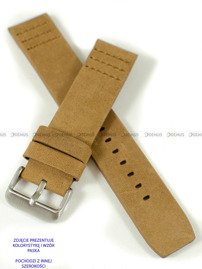 Pasek skórzany do zegarka - Pacific W39.24.8.8 - 24 mm