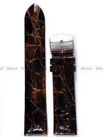 Pasek skórzany do zegarka Vostok Rocket N-1 Lady YT57-2235162 - 20 mm brązowy perłowy