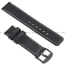 Pasek skórzany do zegarka lub smartwatcha - moVear WQU0C01SL00BKMM24BK - 24 mm