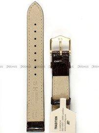 Pasek ze skóry krokodyla do zegarka - Hirsch Genuine Croco M G 189008-10-15 - 15 mm