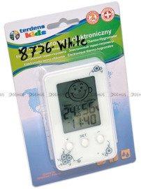 Termometr Higrometr Zegar dla dzieci Terdens 8736-White