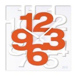 Zegar ścienny plastikowy kwadratowy biała tarcza nowoczesny wzór H106.1