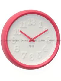 Zegar ścienny plastikowy w kolorze różowym H101.1