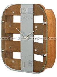 Zegar ścienny szklano-drewniany N29112.11