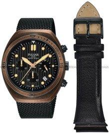 Zegarek Męski Pulsar PT3984X2 - Dodatkowy pasek w zestawie